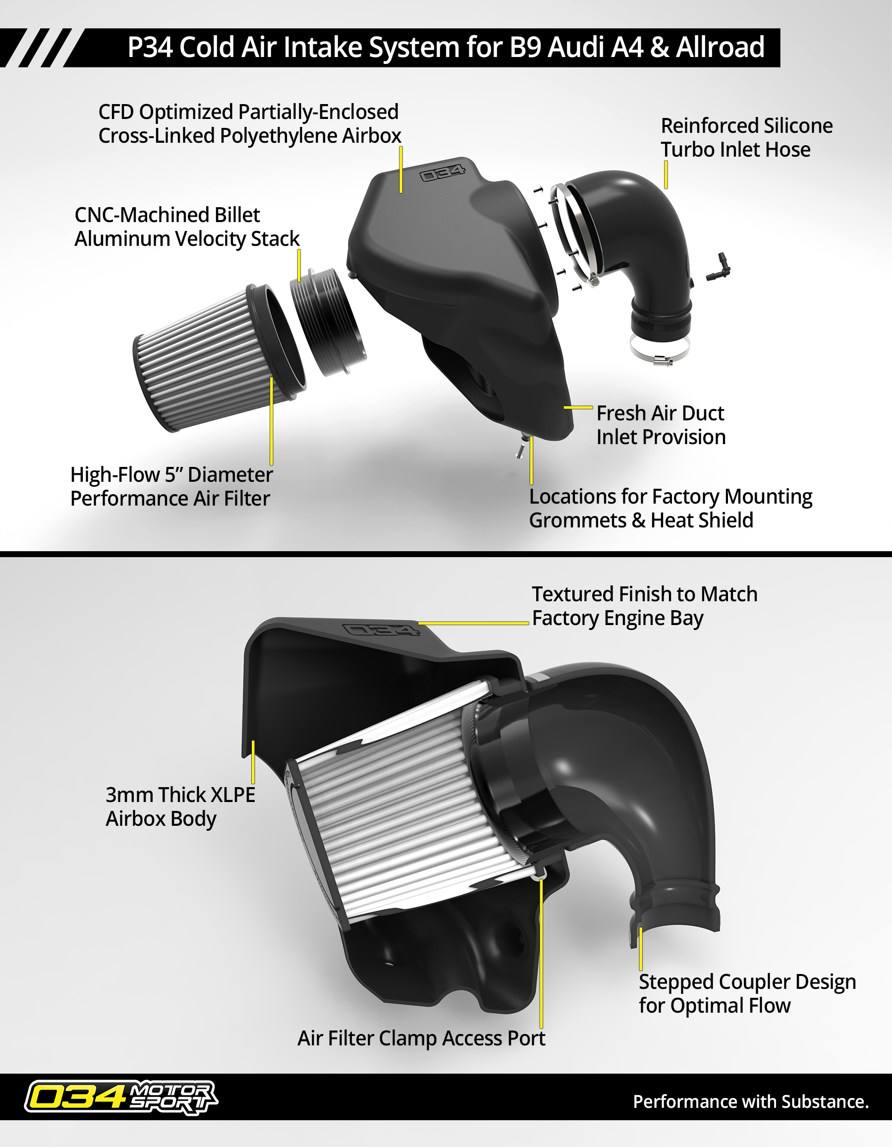 B9 Audi A4/Allroad Cold Air Intake Info Sheet