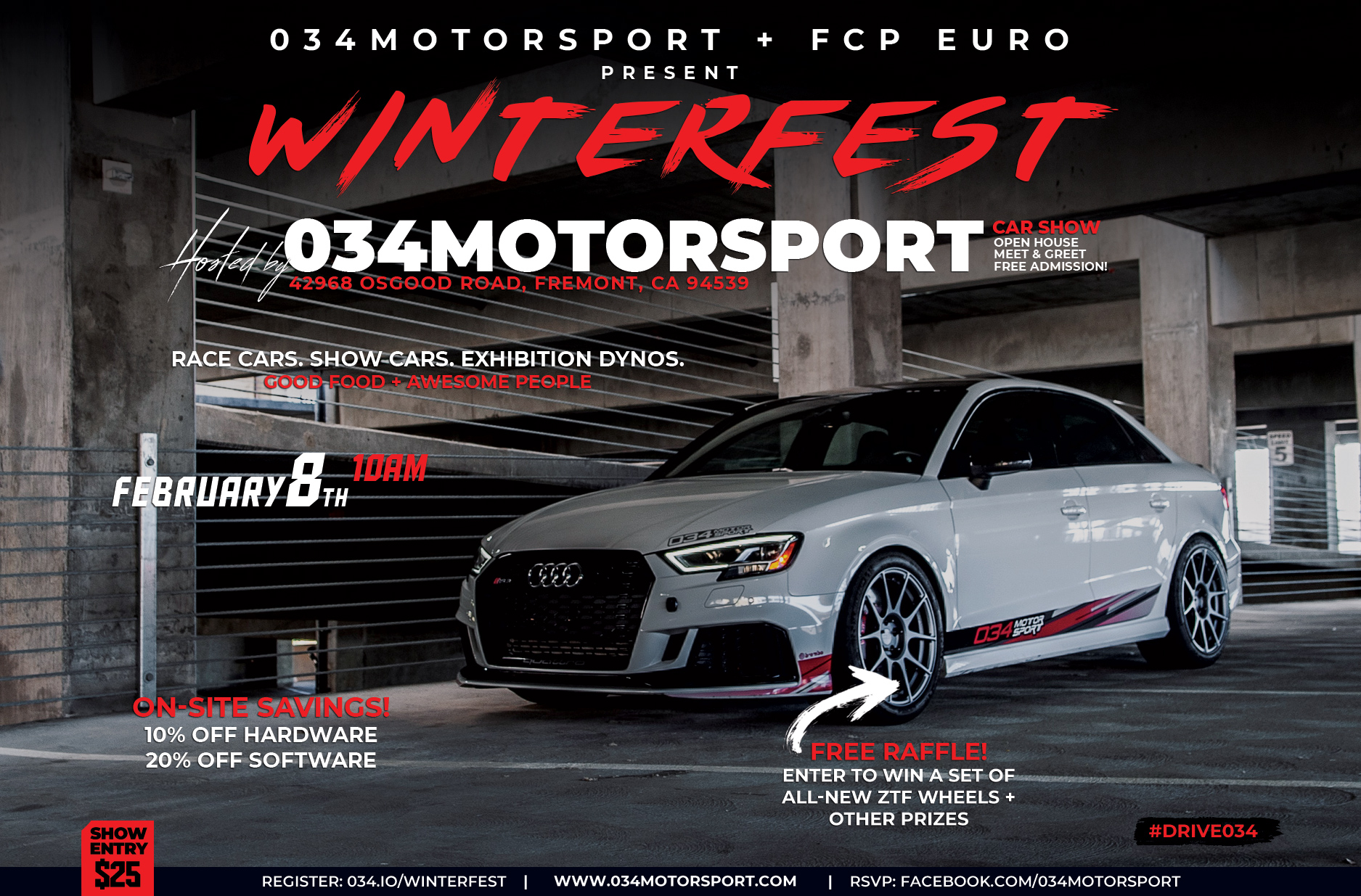 WinterFest 2020 - Audi/Volkswagen Car Show, Open House, and Get Together at 034Motorsport in Fremont, CA