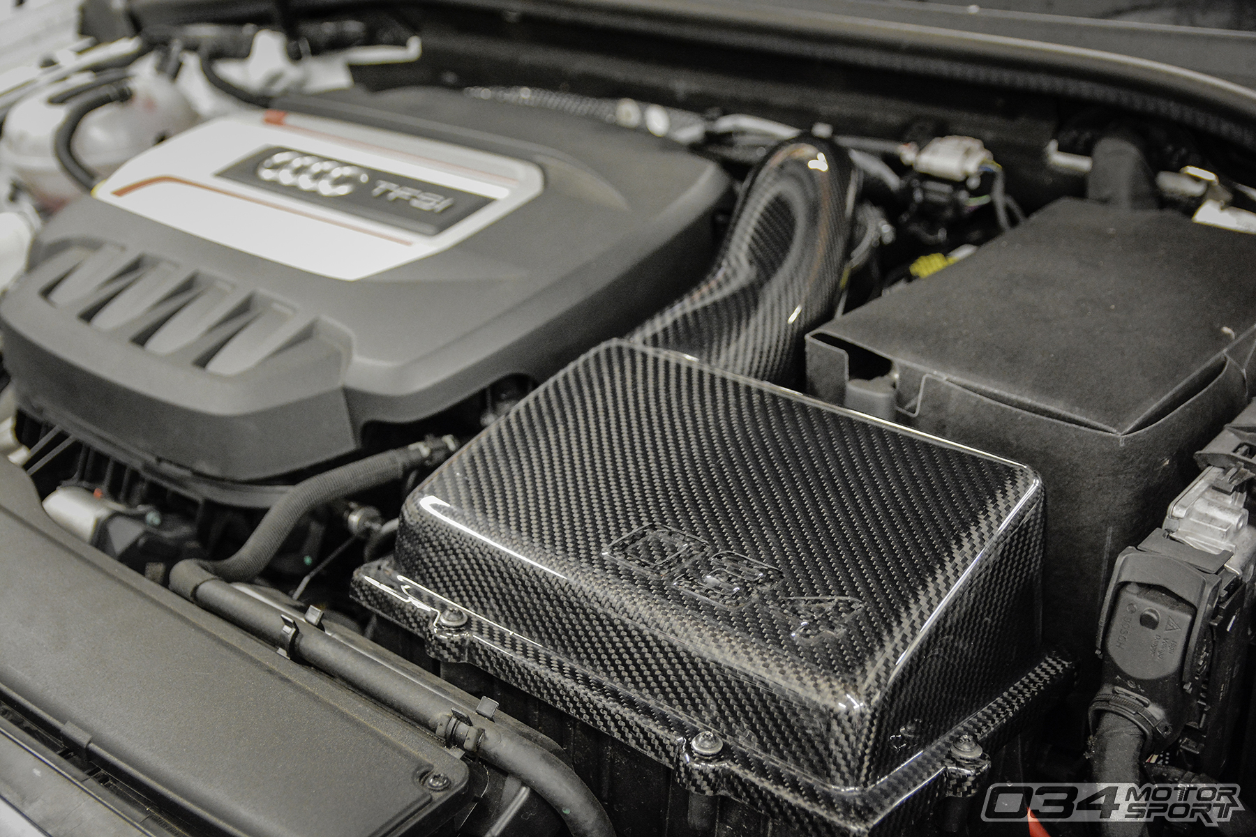8V Audi S3 (MQB) Cold Air Intake Installed