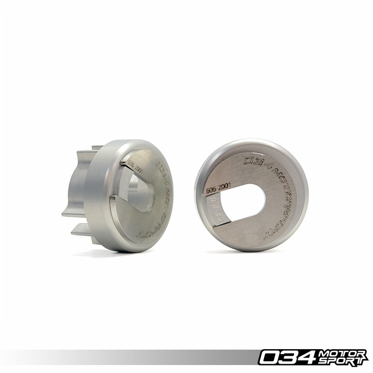 034Motorsport Billet Aluminum Rear Differential Carrier Mount Insert Upgrade Kit for B6/B7 Audi A4/S4/RS4 | 034-505-2015