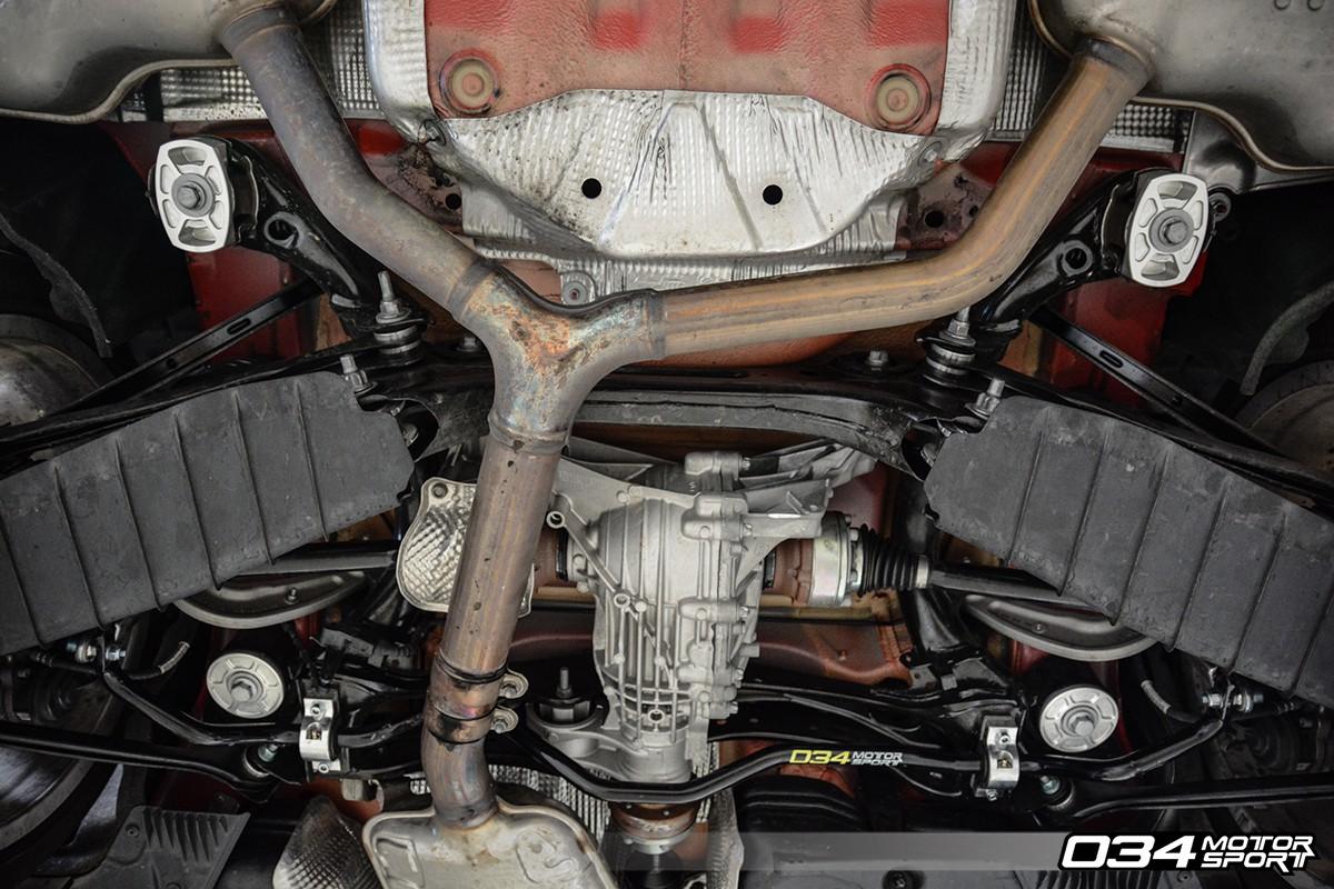... Billet Aluminum Rear Subframe Mount Insert Kit Installed, B9 Audi A4/S4  | 034 ...