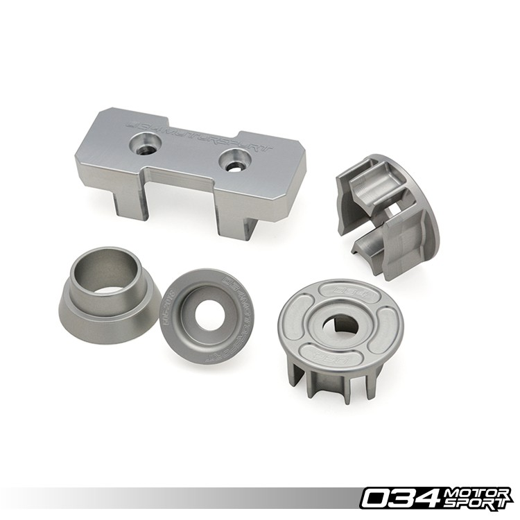 034Motorsport Drivetrain Mount Insert Package for B8 Audi A4/S4/RS4, A5/S5/RS5, Q5/SQ5 Billet Aluminum | 034-509-6000
