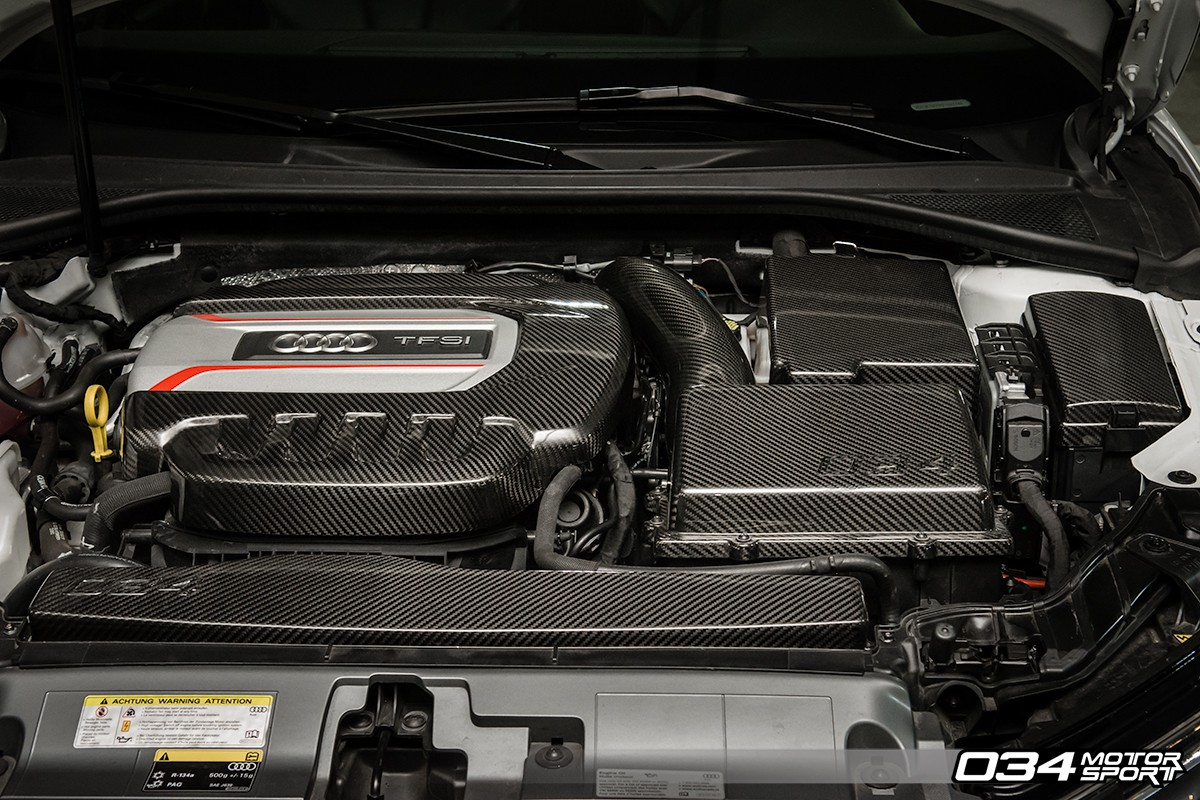 carbon fiber engine cover package  audi   zz  motorsport