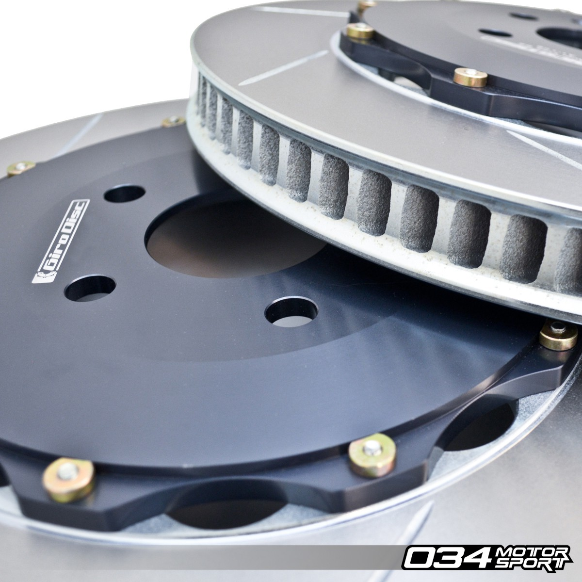 GiroDisc Front 2-Piece Floating Rotor Pair for B5 Audi S4 with Brembo 18Z 6-Piston Caliper | GIR-A1-120