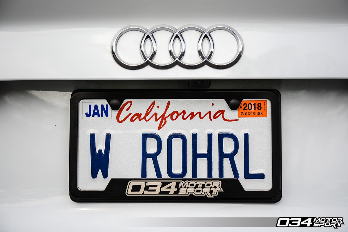 034Motorsport License Plate Frame - Powdercoated Stainless Steel ...