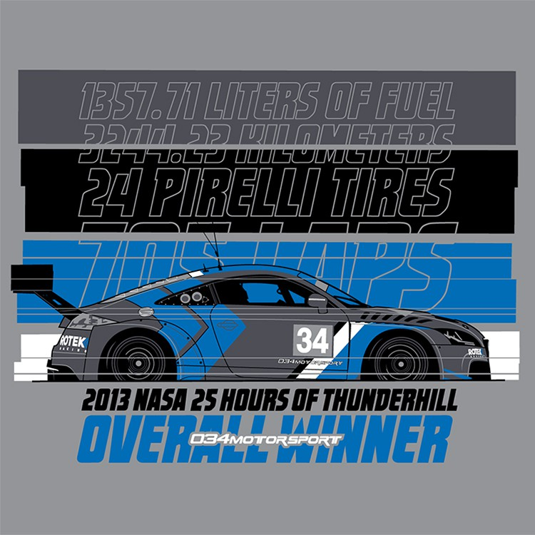 T-Shirt, 2013 NASA 25 Hours of Thunderhill Victory Commemorative, 034Motorsport / Rotek Racing Audi Sport TT RS VLN SP4T