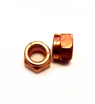Hardware, 10mm Turbo Lock Nut, Copper Plated Steel