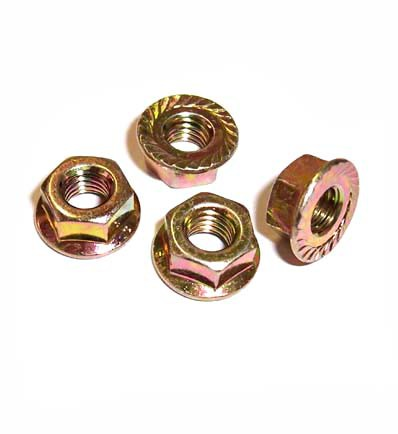 Hardware, 8mm, Serrated Flange Nut