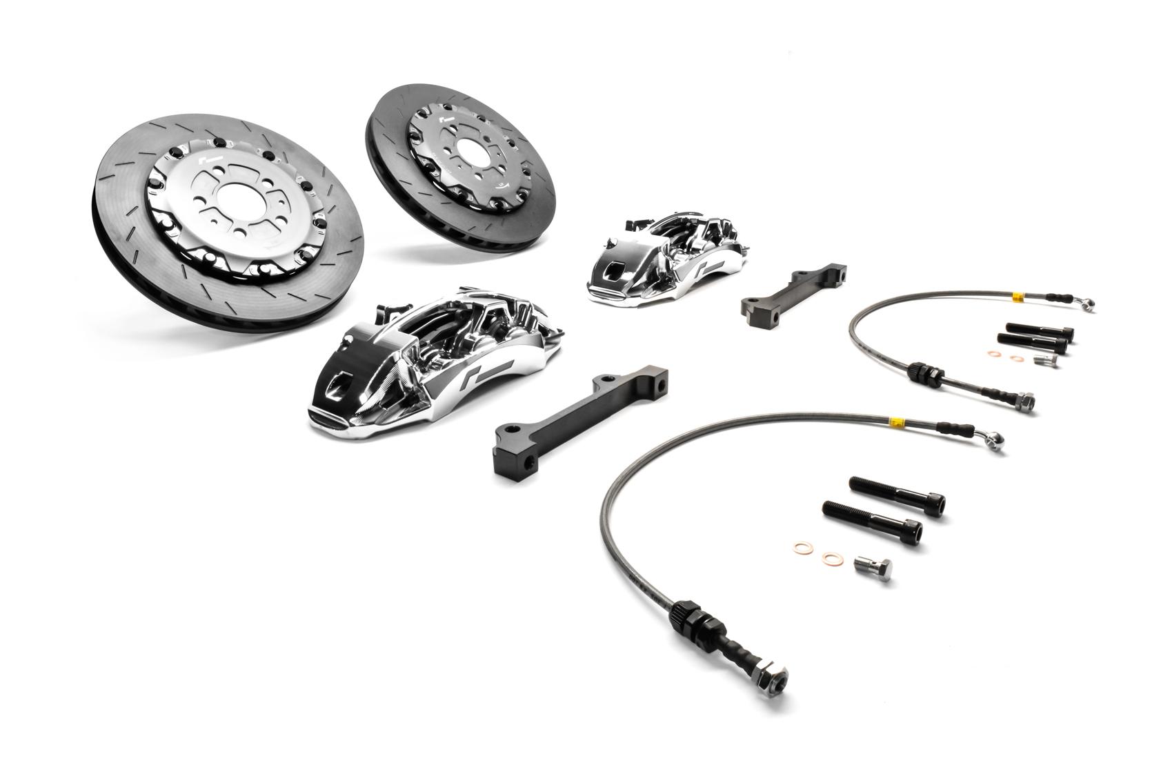 RacingLine Stage 3 Forged Monoblock 355mm Brake Upgrade Kit, Audi/Volkswagen MQB | VWR650001-CHR