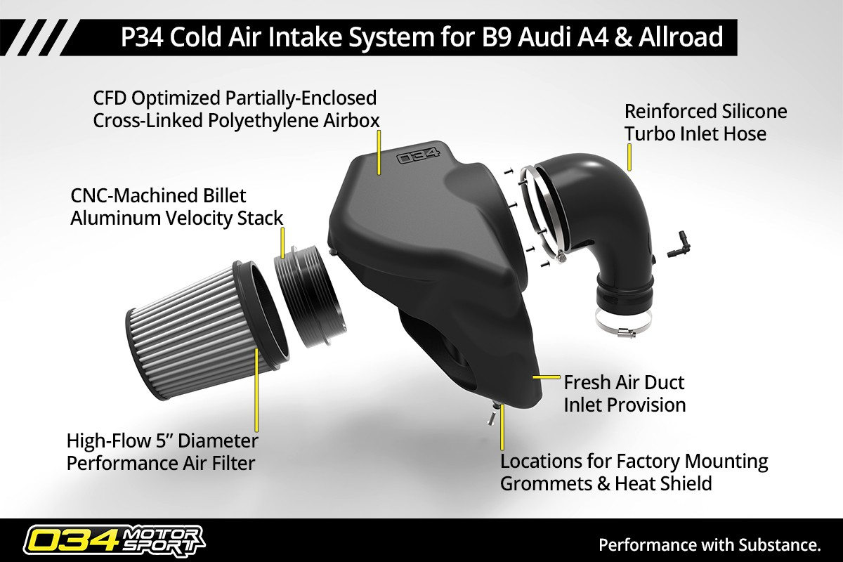b9 audi a4 allroad a5 cold air intake system info sheet p34 by