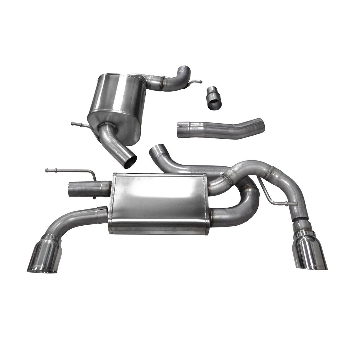 Corsa Performance MkVI Volkswagen Golf/GTI 2.0T Cat-Back Exhaust System - Polished Tips