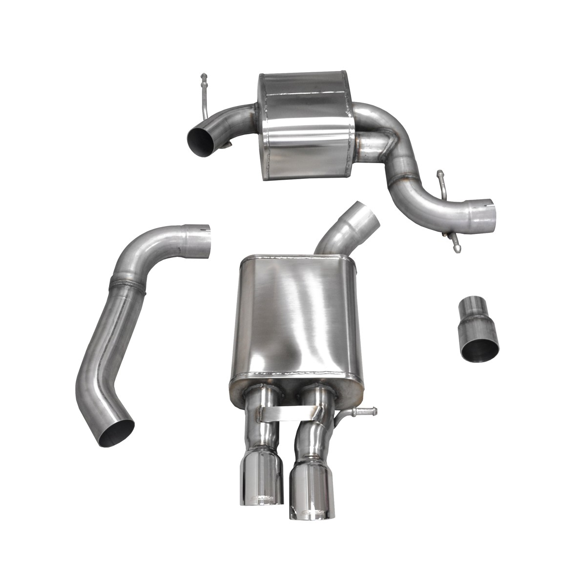 Corsa Performance MkV Volkswagen Jetta/GLI 2.0T Cat-Back Exhaust System - Polished Tips