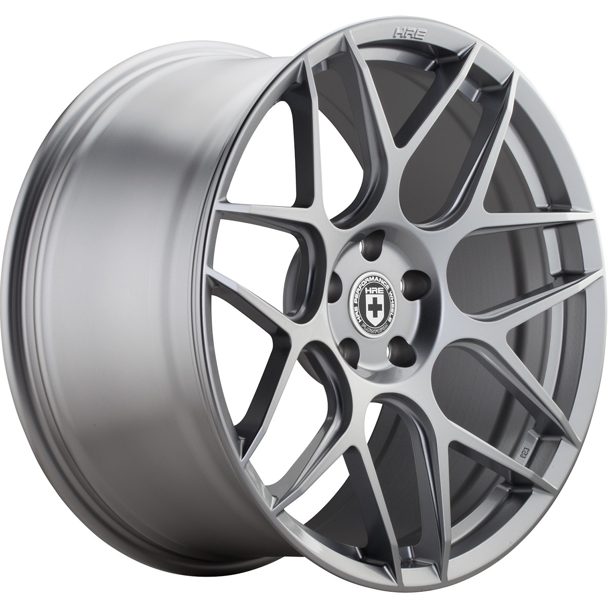 HRE FlowForm FF01 Wheels | Liquid Silver | Audi/Volkswagen 5x112 Bolt Pattern with 57.1mm Center Bore