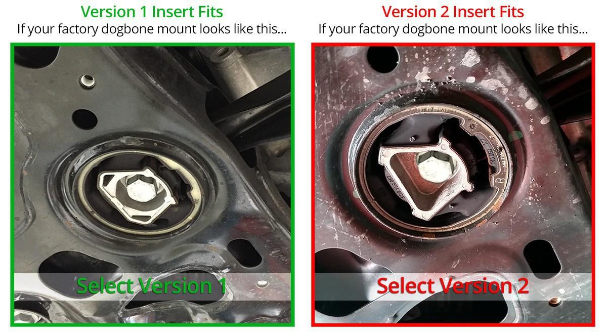 Billet Aluminum MQB Lower Dogbone Mount Insert, MkVII Volkswagen  Golf/GTI/R, 8V/8V 5 Audi A3/S3/RS3 & MkIII Audi TT/TTS/TTRS