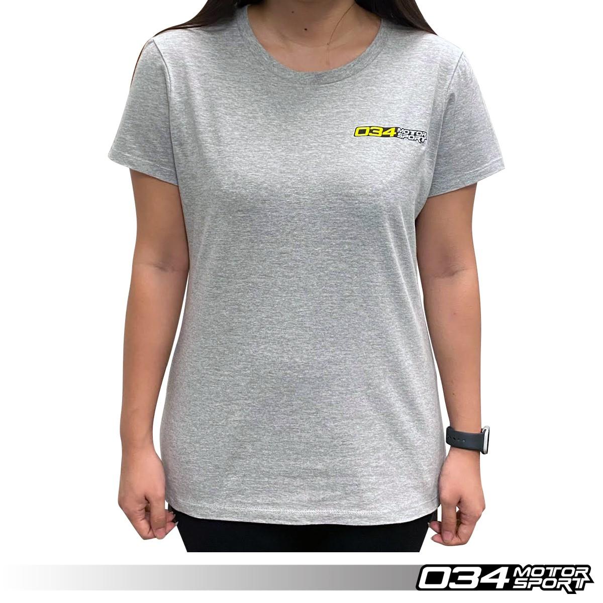 "T-Shirt, ""034Motorsport"", Gray, Women's 034-A01-1020-W"