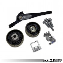 034Motorsport Billet Spherical Dogbone Mount Performance Pack with Dogbone Pucks, Audi 8V.5A3/S3 and Volkswagen Mk7.5 Golf/Golf R/GTI/Jetta with 7-Speed DSG - 034-509-1045
