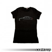 034Motorsport Womens T-Shirt, B8.5 Audi Sedan Line Art, Front | 034-A01-1014-W