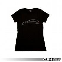 034Motorsport Womens T-Shirt, MkVII Volkswagen GTI Line Art, Front | 034-A01-1015-W