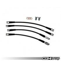 Stainless Steel Braided Brake Line Kit, B6/B7 Audi A4/S4 Quattro, DOT Certified | 034-303-0008