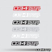 Decal, Die Cut, 034Motorsport Classic | 034-A04-0008