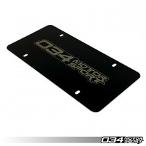 034Motorsport License Plate, Powdercoated Stainless Steel 034-A03-0002