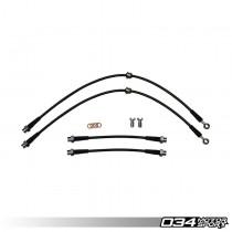 Stainless Steel Braided Brake Line Kit, 8P Audi A3 & MkV/MkVI Volkswagen Golf/Rabbit/GTI/Jetta/GLI, DOT Certified | 034-303-0006