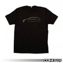 034Motorsport T-Shirt, MkVII Lines Front | 034-A01-1015