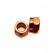 Hardware, 10mm Turbo Lock Nut, Copper Plated Steel