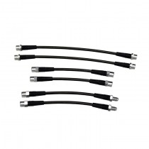 Stainless Steel Braided Brake Line Kit, B5 Audi A4/S4 Quattro, DOT Certified