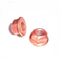 Hardware, 8mm Copper Plated, Steel Lock Nut