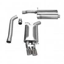 Corsa Performance B8 Audi A4 2.0T Cat-Back Exhaust System - Polished Tips