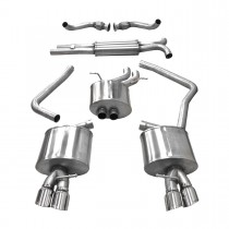 Corsa Performance B8 Audi S4/S5 3.0T Cat-Back Exhaust System - Polished Tips