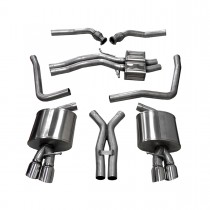 Corsa Performance B8 Audi S4 4.2L Cat-Back Exhaust System - Polished Tips