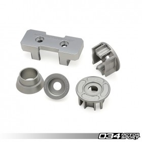 034Motorsport Drivetrain Mount Insert Package, B8/B8.5 Audi A4/S4/RS4, A5/S5/RS5, Q5/SQ5 Billet Aluminum