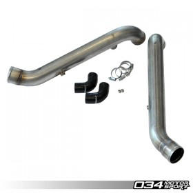 Bipipe Set, B5 Audi S4 & C5 Audi A6/Allroad 2.7T, Stainless Steel with WMI Bungs