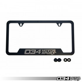 034Motorsport License Plate Frame - Powdercoated Stainless Steel