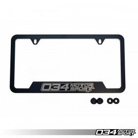 034Motorsport License Plate Frame - Powdercoated Stainless Steel