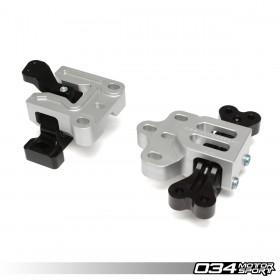 Motorsport StreetSport Engine/Transmission Mount Pair, 8J/8P Audi A3/TT 3.2L & MkV Volkswagen R32, Billet Aluminum