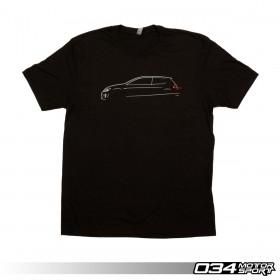 034Motorsport T-Shirt, MkVII Volkswagen GTI Line Art