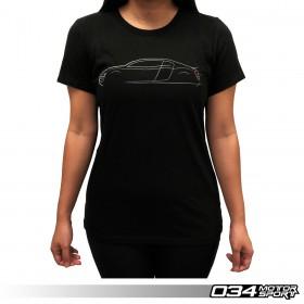 034Motorsport Women's T-Shirt, Audi R8 Lines