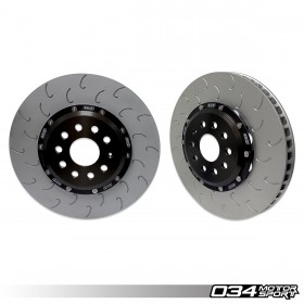 2-Piece Floating Front Brake Rotor Upgrade Kit for Audi 8V/8V.5 S3 and VW Mk7/7.5 GTI/R